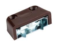 Corner Block, No. 3554, Screw-On Type, Brown Plastic