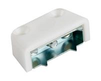 Corner Block, No. 3554, Screw-On Type, White Plastic
