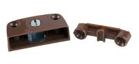 Corner Block, No. 3600, Eccentric Cam Fixing, Brown Plastic