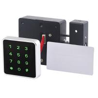 Mifare1 Lock W/Card Reader & Code Panel,80x80x27mm,Black ABS