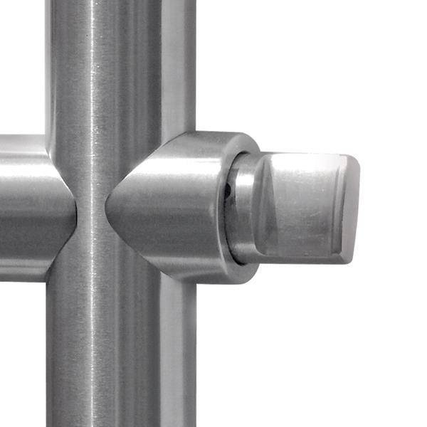 Door Bar Handle Lock 248 35x1500mm W Cylinder Knob Ss 304