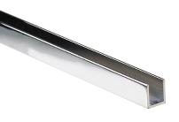 Alu. U-Channel, F/6mm Glass, Mirror CPL, 2,3 Mtr, 1x12x8,2mm