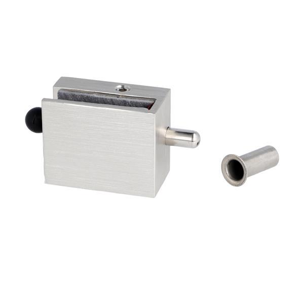 Locking Lever Handle Bar : Glass door lock quot thor f mm brushed alu
