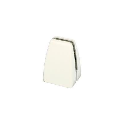 Partition Panel Clamp, Top-Fix, Alu, White Painted, F/4-8mm