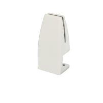 Partition Panel Clamp, Clamp-On, Alu,White Painted,F/4-8mm