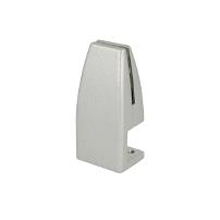 Partition Panel Clamp, Clamp-On, Alu,Silver Painted,F/4-8mm