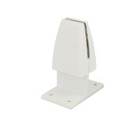 Partition Panel Clamp,Back-To-Back,Alu,White Painted,F/4-8