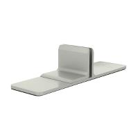 Partition Panel Support Clamp, Alu, Silver Painted,F/6-8mm