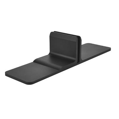 Partition Panel Support Clamp, Alu, Black Matt, F/6-8mm