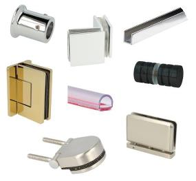 Shower Hinges, Clamps, Knobs, Seals & Tube Accessories