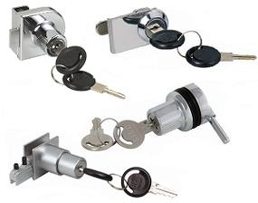 Glass door locks for furniture